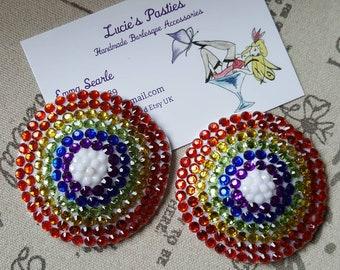 Rainbow nipple pasties