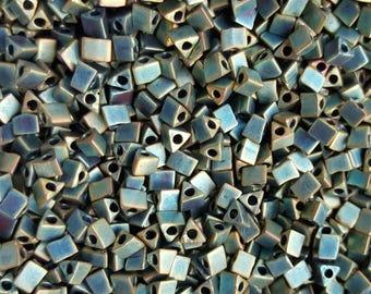 Miyuki 5/0 Sharp Triangle Beads  - Matte Metallic Patina Iris  STR5-2008 - 10g