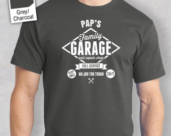 PaP's Garage T-shirt, Personalized PaP Gift, PaP Birthday Gift, PaP Gift, PaP Shirt, New PaP Gift, PaP Tshirt