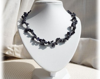 Blue Gold-stone Necklace