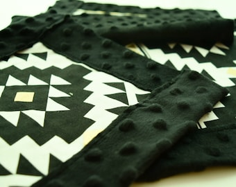 Black & Gold Aztec Lovey / Baby Security Snuggle Square