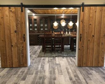 Pantry style custom barn doors