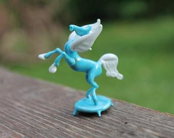 Art couleur verre Pegasus Figurine, Figurine Miniature animaux soufflé à la main verre Pegasus de soufflé à la main