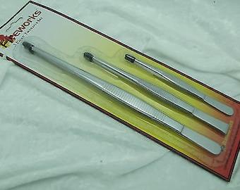 Fireworks Lampworking Tweezer Set 5 1/2, 7, & 10 inch Beadmaking Art Glass Tool