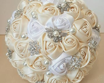 Elegant Bridal bouquet, Wedding bouquet, Brooch Bouquet, Keepsake Bouquet