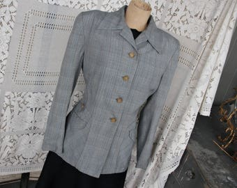Vintage 1940s Women's Fitted Glen Paid Jacket