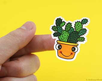 Cactus Stickers for Kids, Funny Succulent Stickers, Cute Cactus Stickers, KissCut Plant Stickers for Plant Lover, Succulent Sticker for Kids
