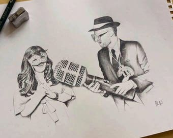 Custom graphite pencil drawing from your photo.