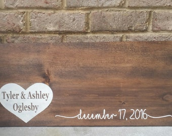 Personalized Wood Wedding Guest Book Sign, Wedding Guest Book Alternative, Hand Painted Wood Wedding Guest Book Sign, Guest Book Wood Sign