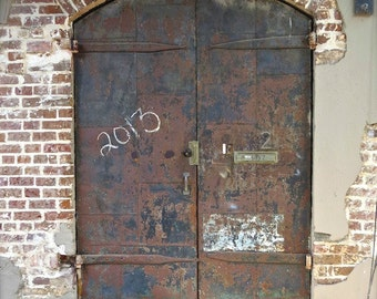 "Door Photography, Door Print, Architectural Art, Rustic Brown Decor, Primitive Rural Decor, Weathered Door Art, Savannah Doors- ""Door 2013"""