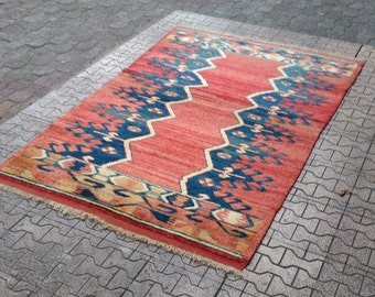 77.5x52.3inc! / 6.4x4.3feet!. area rugs. home floor rugs. rugs. vintage. oushak rugs. vintage area rugs. Rugs. handmade natural colors rugs.