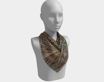 Palm Fronds Square Scarf