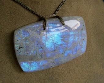 1 Pendant Rainbow Moonstones   beads 92, Grams 12X47X75  MM