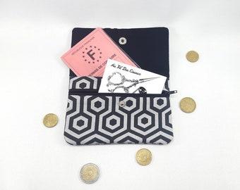 Wallet / / women wallet / / fabric wallet / / XXL purse / / companion / / clutch - hive gray