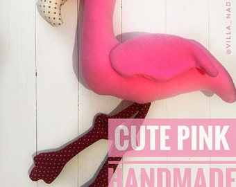Pink Fabulous Flamingo_Original Handmade Toy_Super Gifts for Everyone _Eco friendly item_ Bright and Wouderfull Flamingo _Baby Toy_Decor