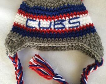 Baby Shower Gift Crochet Chicago Baby Baseball Baby Cubs Baby Shower Gift Baby Bear Hat Photo Prop Cubs Crochet Hat Photo Prop Hat