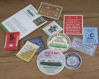 Traveler's Notebook Stickers, Travel Sticker Pack, Scrapbook, Ferry edtion Stamp Planner Sticker Pack