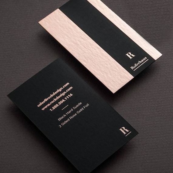Deluxe business card design and print business card with rose colourmoves