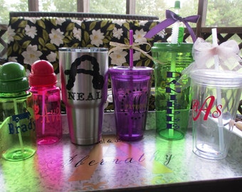 Personalized Tumblers/Water Bottles