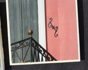 New Orleans French Quarter Balcony Photo Coaster