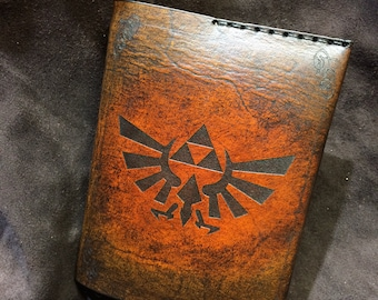 Leather Zelda passport cover wallet