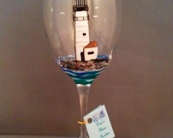 Lighthouse Wine Glass