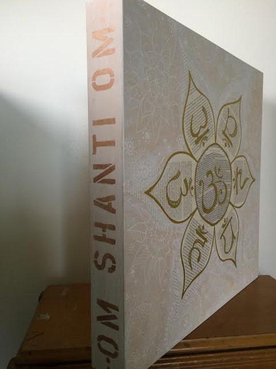 Original Painting on Wood Panel Chakra Lotus Flower by Lauren Tannehill Art