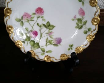 Limoges Trinket Dish, Jewelry Dish, Ring Dish, Gift for Her, Limoges T&V France Depose, Hand Painted, Clover Wildflowers, Jewelry Holder