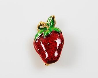 Vintage Strawberry Brooch