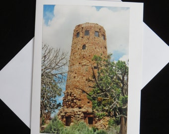 Desert View Watchtower Photo Card Grand Canyon Birthday Thank You Friendship Get Well All Occasion