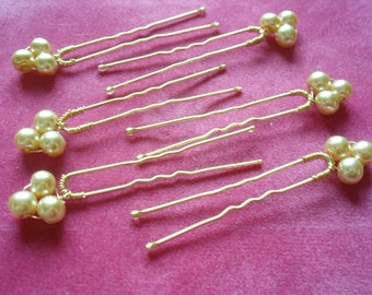 Ivory Pearl pins,Wedding hair pins, Updo hair pins, Prom hair pins, Bridal hair accessory, Wedding pins, Bridesmaids hair pins