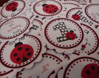 Traditional Red and Black Ladybug Confetti