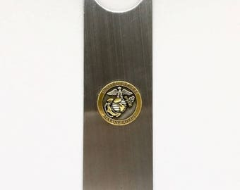 "US Marines Bottle Opener - 1"" Bronze/Two-Tone"