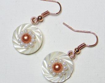 White Pearl Earrings and Pearl - #787