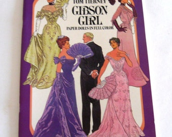 Vintage Gibson Girl Paper Dolls Paper Doll Book  Tom Tierney Fashions Series Unused Uncut 1985