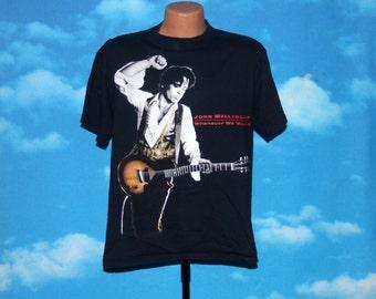 John Mellencamp Whenever We Wanted Tour Black Tshirt Vintage 1992