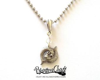 Silver Pisces Necklace - Pisces Necklace - Two Fish Necklace - Men's Zodiac Necklace - Astrology Necklace - Pisces Jewelry - Zodiac Jewelry