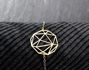 geometric circle bracelet