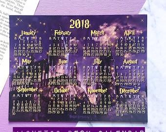 2018 HP Magnetic Desk Calendar - Small Calendar - H*gwarts Calendar - Potter Calendar