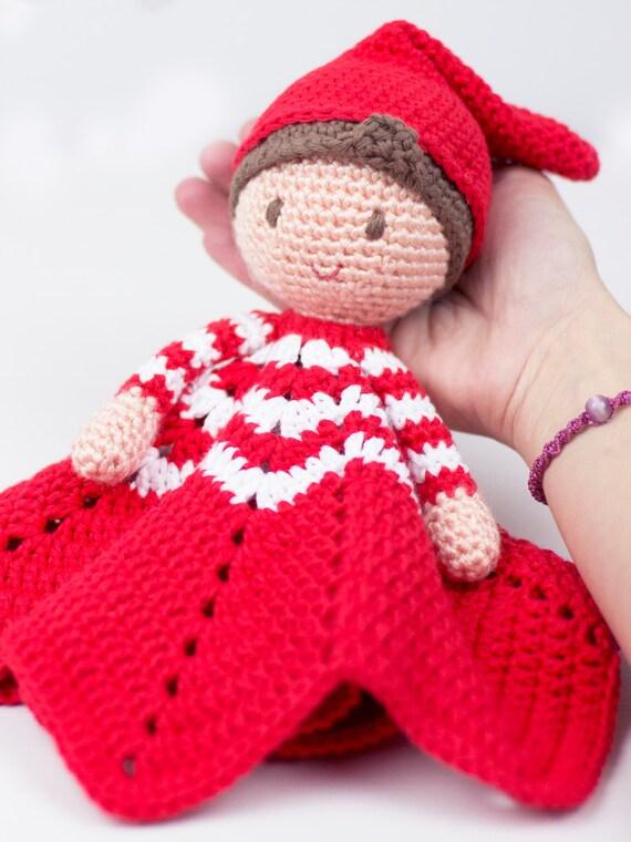 Crochet pattern - Christmas Elf lovey by Tremendu - amigurumi ...