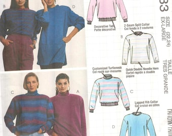 Ladies Athleisure wear, Sweater/Sweatshirt/Pullover Knit Tops, UNCUT FF Sewing with Nancy/Nancy Zieman Busy Woman's sewing pattern,