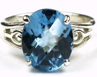 Swiss Blue Topaz, Sterling Silver Ring, SR139