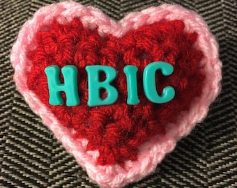 Adult Crocheted Conversation Heart