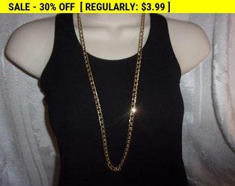 vintage Avon gold tone chain necklace