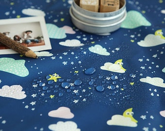 Cloud and Stars Waterproof Fabric - By the Yard 82644