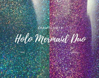 The Holo Mermaid Duo - Set of Both Polishes