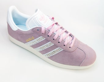 LUXURY Pink Customised Swarovski Adidas Gazelle Womens Shoes / Wedding  /Honeymoon / Bridesmaid / Everyday