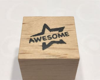 """Small """" Awesome """" rubber stamp, 20 mm (BB4/3)"""