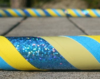 Collapsible Hula Hoop- Sunny Daze- Blue and yellow