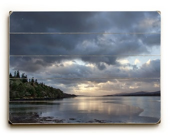 Wood Sign: Ireland Photography, Bantry Bay Ireland, Ireland Photo on Wood, Blue Art, Irish Photo on Wood, Irish Decor